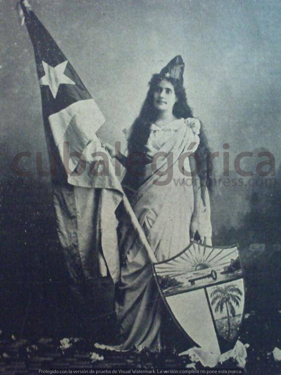 Srta. María Verdejo, fotografiada por Pedro J. Pérez. El Fígaro, enero de 1899