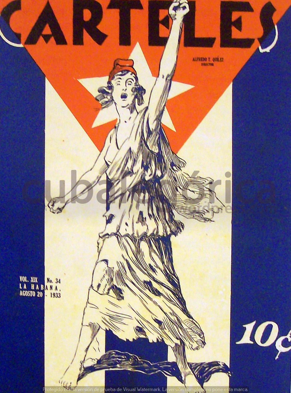 Carteles en agosto de 1933