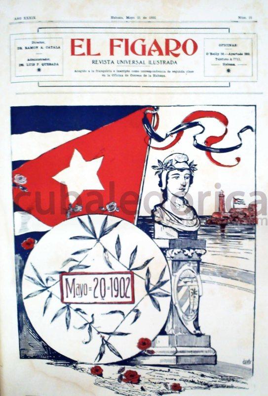 Portada de la revista cubana El Fígaro el 21 de mayo de 1902.