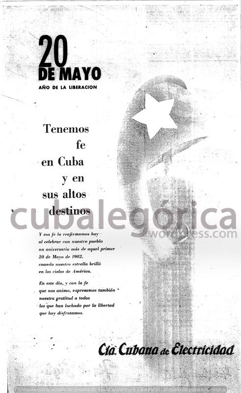 Diario de la Marina el 20 de mayo de 1959